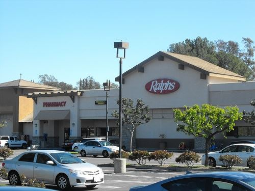 Alicia Ralphs shopping center and parking lot
