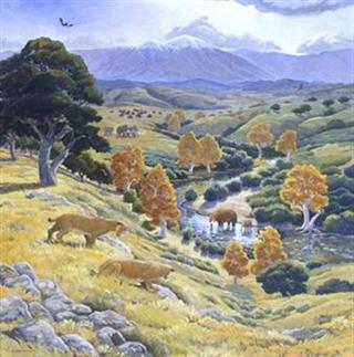 Ice Age Grasslands Mural