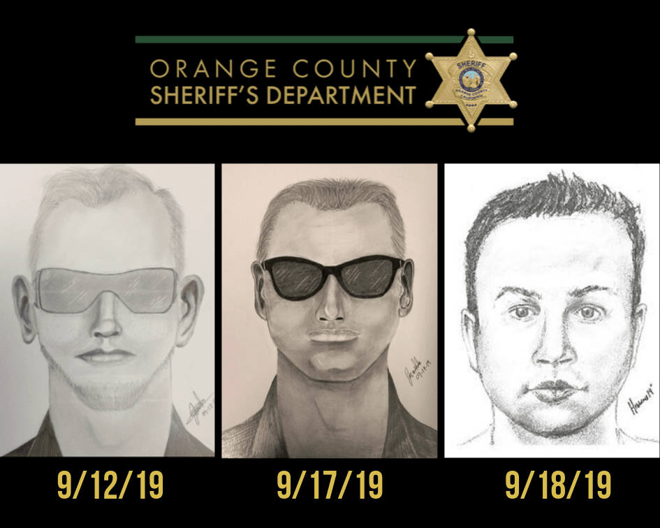 OCSD preliminary sketch of alleged criminal
