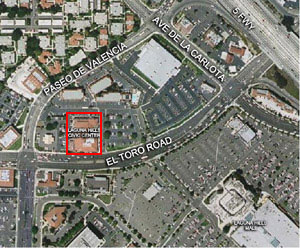 Aerial Map of the Lease Office Space at the Civic Center