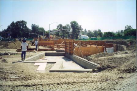 Construction of Water Wall 3
