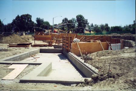 Construction of Water Wall 4