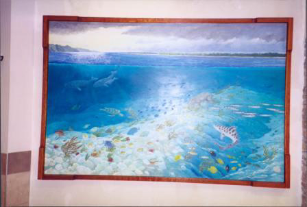 Pecten Reef Mural In Community Center