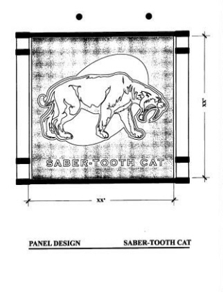 Playground Panels-Saber Tooth Cat